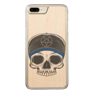 Crâne de roche de patin coque en bois iPhone 7 plus