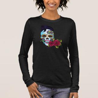 Crâne de rockabilly t-shirt à manches longues