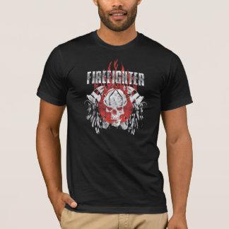 Crâne de sapeur-pompier t-shirt
