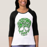 Crâne de shamrock de Jour de la Saint Patrick T-shirt