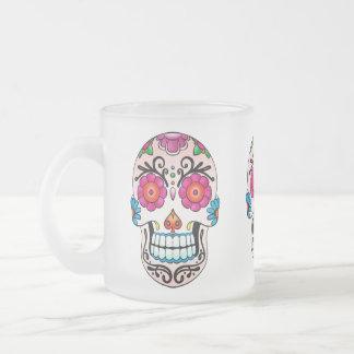 Crâne de sucre - art de tatouage mug à café