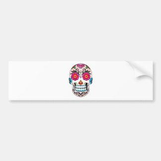 Crâne de sucre - jour des morts, tatouage, Mexique Autocollant Pour Voiture