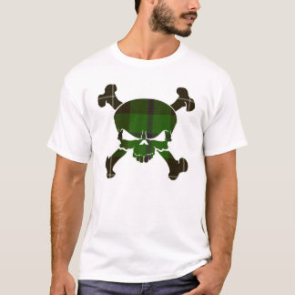 Crâne de tartan de Douglas aucune chemise de T-shirt