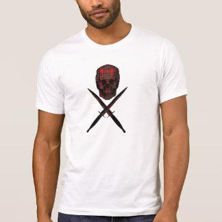 crâne de tartan et poignards croisés de commando t-shirts