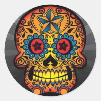 Crâne de tatouage autocollants