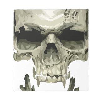 crâne de vampire bloc-note