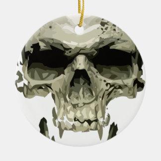 crâne de vampire ornement rond en céramique