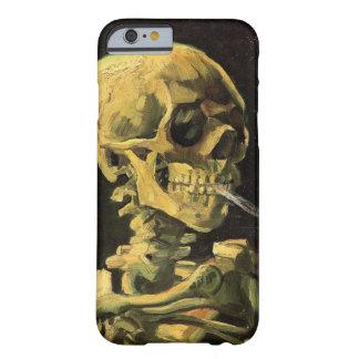 Crâne de Van Gogh avec la cigarette brûlante, art Coque iPhone 6 Barely There