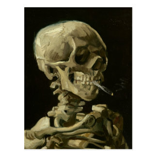Crâne de Van Gogh avec la cigarette brûlante Cartes Postales