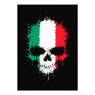 Crâne d'éclaboussure d'égoutture de l'Italie