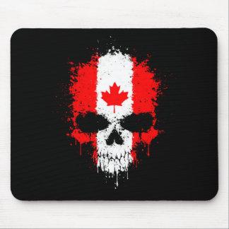 Crâne d'éclaboussure d'égoutture du Canada Tapis De Souris