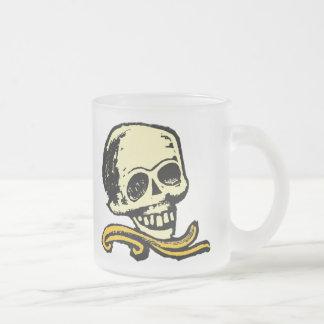 Crâne décoratif vintage mug en verre givré