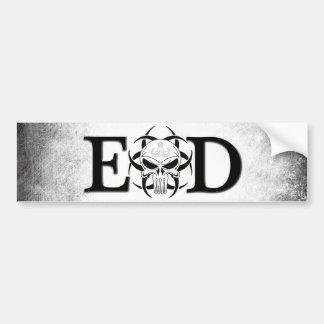 Crâne d'EOD avec la grunge de crabe Autocollant De Voiture