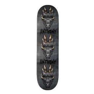 Crâne déplaisant plateau de skate
