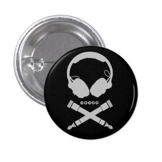 Crâne du DJ Badge Avec Épingle
