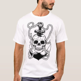 Crâne et ancre t-shirt
