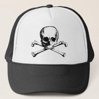 Crâne et casquette de mousse d'os croisés