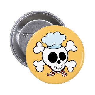 Crâne et chef drôles d'os croisés pin's