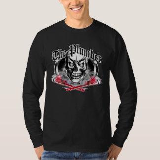 Crâne et clés de tabagisme 3,1 de plombier t-shirt