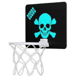 Crâne et fille d'os/garçon mini-panier de basket