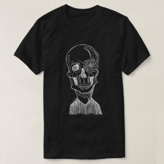 Crâne et fleur t-shirt