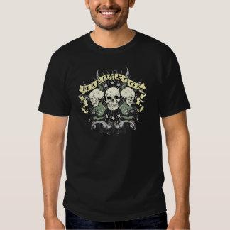 Crâne et guitares de hard rock t-shirt