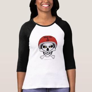 Crâne et jersey d'os croisés t-shirt