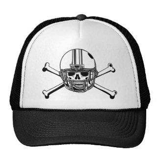 Crâne et joueur de football d'os de croix casquette
