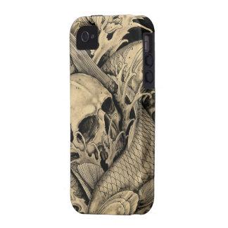 Crâne et Koi Étui iPhone 4