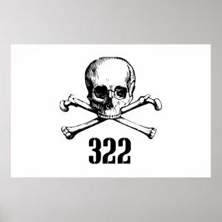 Crâne et os 322 poster