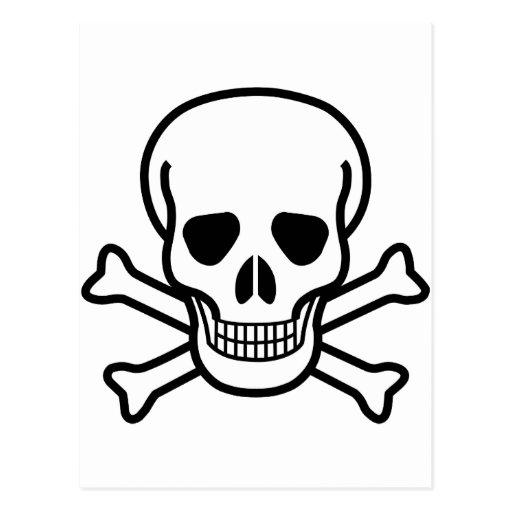 Crâne et os croisés carte postale