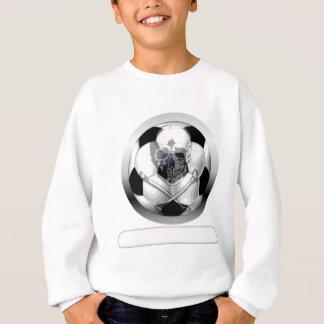 Crâne et os croisés de ballon de football sweatshirt