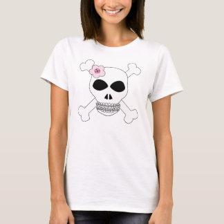Crâne et os croisés de grimace de bidon t-shirt