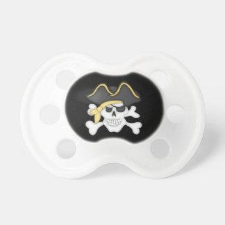 Crâne et os croisés de pirate sucette pour bébé