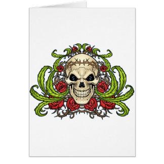 Crâne et roses avec la couronne des épines par Al Carte De Vœux