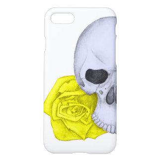 Crâne et roses jaunes coque iPhone 8/7