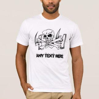 Crâne et T-shirt des hommes des os 4X4 de croix
