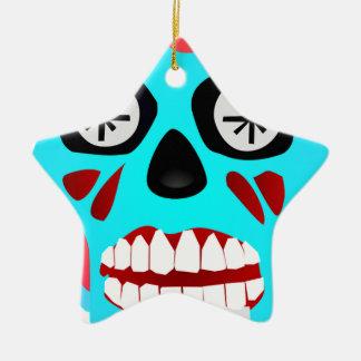Crâne étranger ornement étoile en céramique