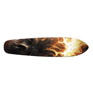 Crâne flamboyant pattern1 skateboards personnalisés