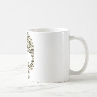 Crâne fleuri fleuri mug
