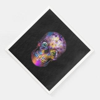 Crâne floral extraordinaire A Serviette En Papier