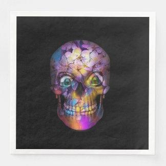 Crâne floral extraordinaire A Serviettes Jetables