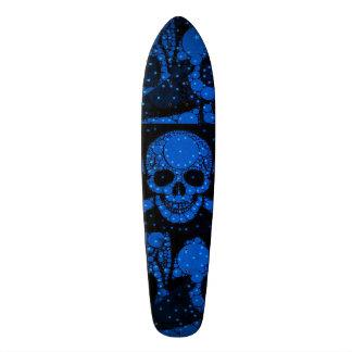 Crâne fluorescent Bling de vert bleu Skateboard Old School 18,1 Cm