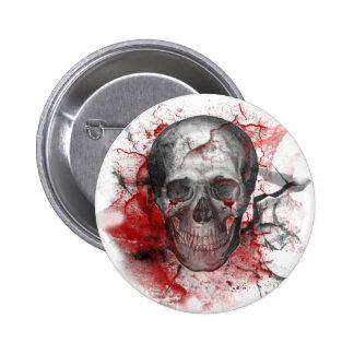 Crâne grunge sanglant gothique badge avec épingle