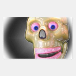 Crâne Halloween de couleur Autocollants Rectangulaires