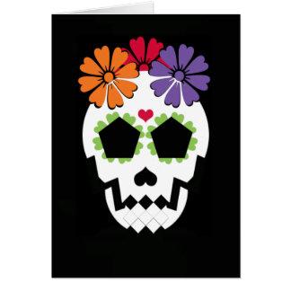 """Crâne """"Halloween heureux !"""" Carte de voeux"""