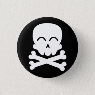 Crâne heureux badge