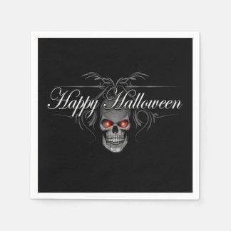 Crâne heureux de mal de Halloween Serviettes En Papier