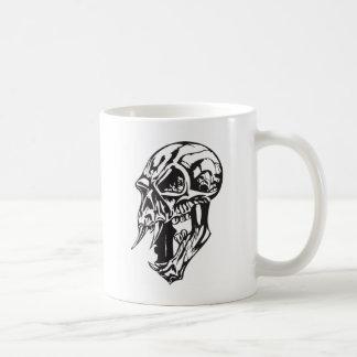 Crâne humain 141 mug blanc