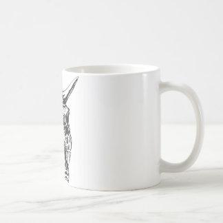 Crâne humain 153 mug blanc